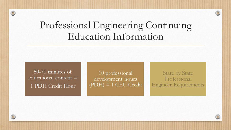 Engineering Continuing Education Information